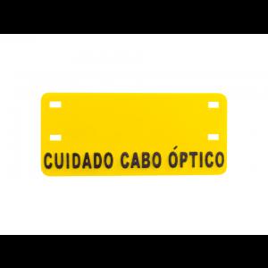Plaqueta de Identificação Cabo Óptico Alto Relevo (Sem Impressão)