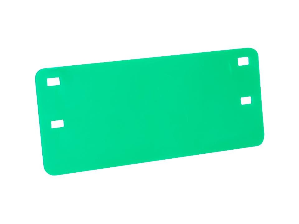 Plaqueta de Identificação Verde Cabo Óptico (impressão preta)