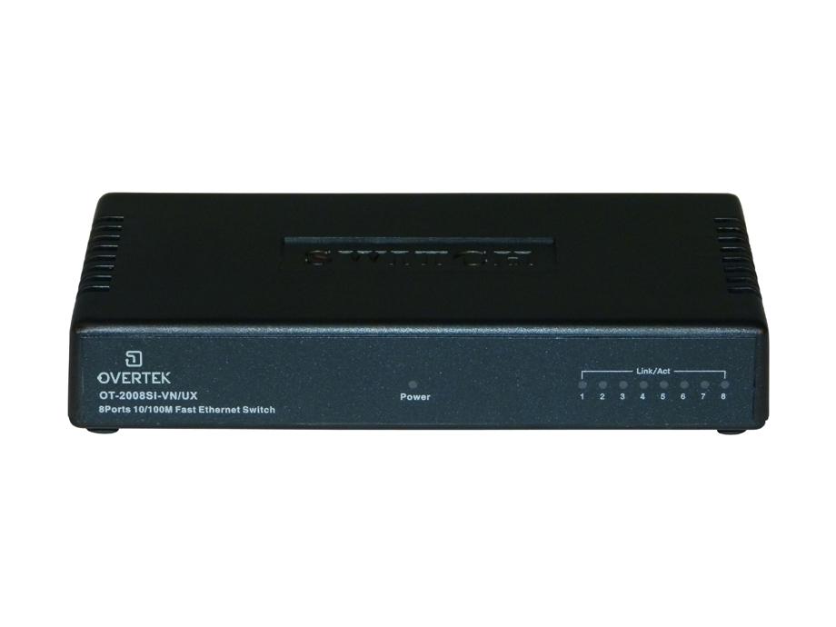 Switch Vlan Fixa 8 portas 10/100 Mbps OT-2008-SI-VN/UX