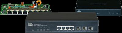 Switchs com Vlan Fixa e Gerenciáveis da Overtek.