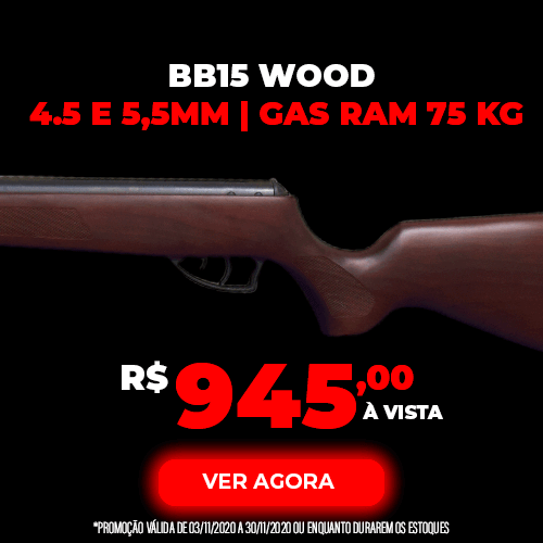 Carabina Nova Vista BB15 Wood GAS RAM 75Kg
