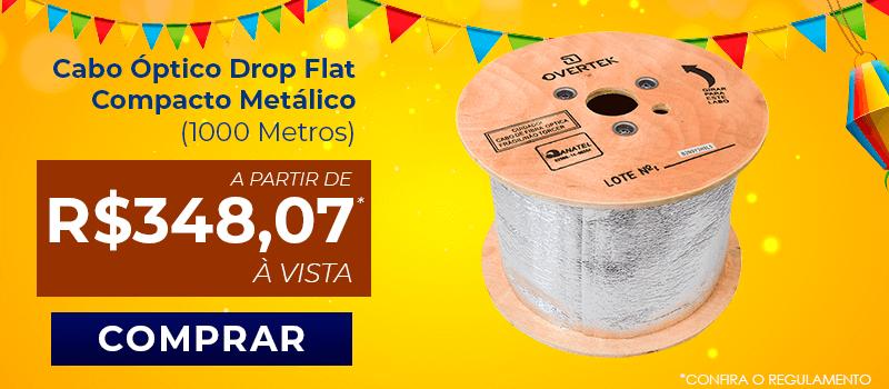 Cabo Óptico Drop Flat Compacto Metálico (1000 Metros)