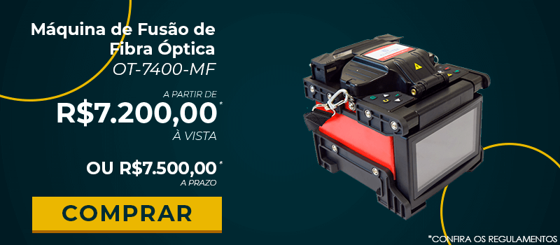 Máquina de Fusão de Fibra Óptica OT-7400-MF